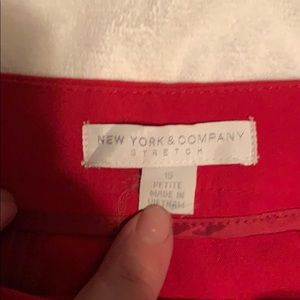16P NY and co red wide leg dress pants